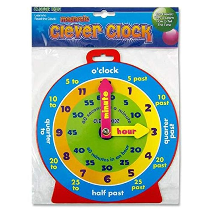 Clever Kids Magnetic Teaching Clock - £1.65 DELIVERED!