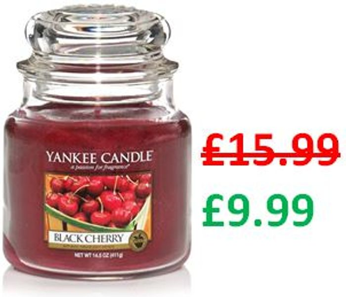 Yankee Candle Medium Jar Scented Candle, Black Cherry