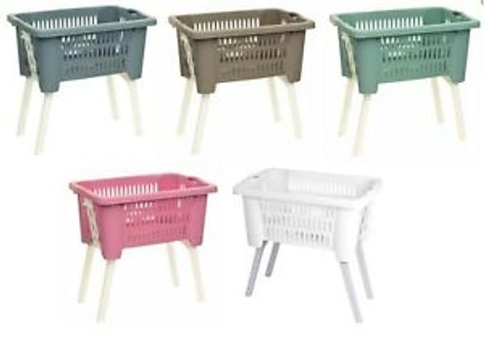 Bargain! Washing Laundry Linen Storage Basket with Folding Legs at Ebay
