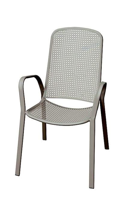 Dorsey Grey Garden Armchair