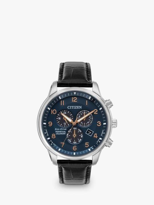 Best Price! Citizen BL5421-10L Men's Eco-Drive Watch (Black/Blue)