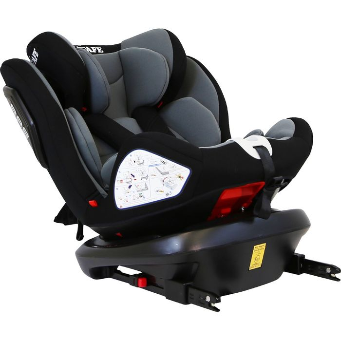 iSafe All Stages 360 Rotating Car Seat Group 0+ 1 2 3 4 Colours Available