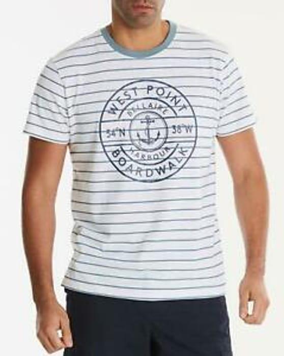 Mens West Point Stripe T-Shirt Jacamo