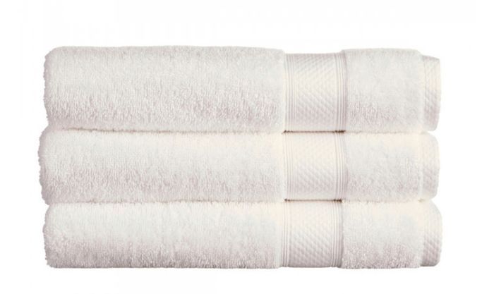 Christy White Bath Sheet, Only £12.80!