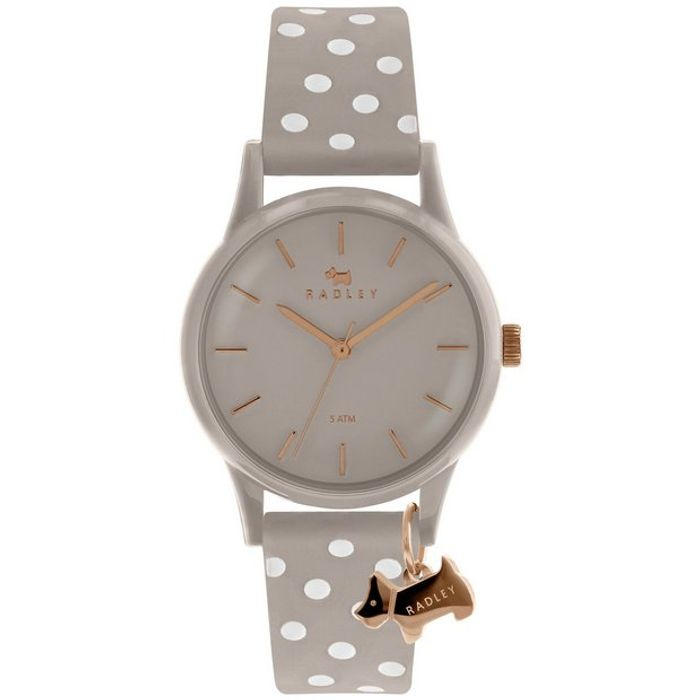 Radley Ladies Grey Silicone Strap Watch Down From £59.99 to £29.99