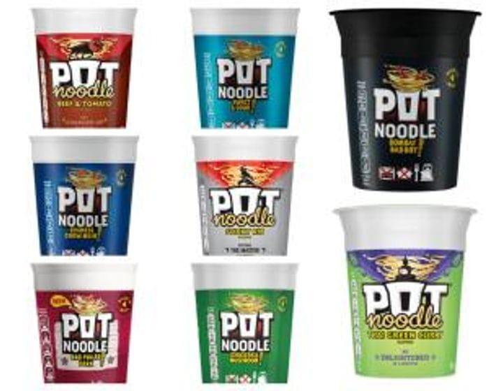 Pot Noodles 90g (Various Flavours) Just 50p