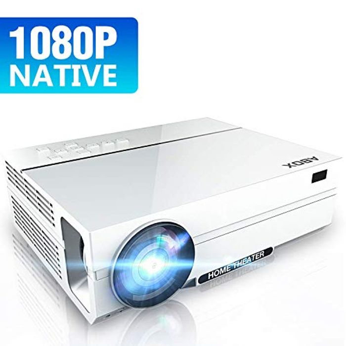 1080P Projector, 4K Projector Ultra HD Support for £60.99