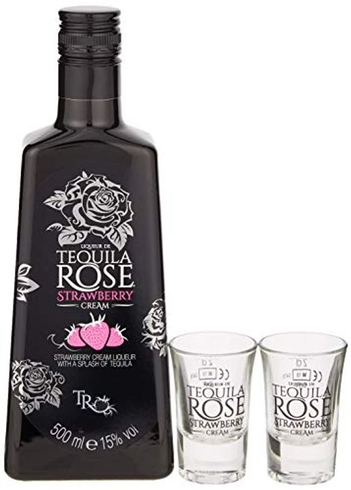 Tequila Rose Gift Set with 2 Shot Glasses, 500 Ml