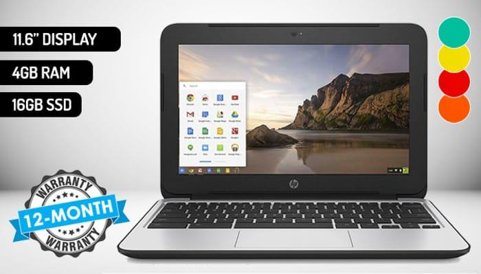 11.6 Inch HP Celeron Chromebook - 5 Colours