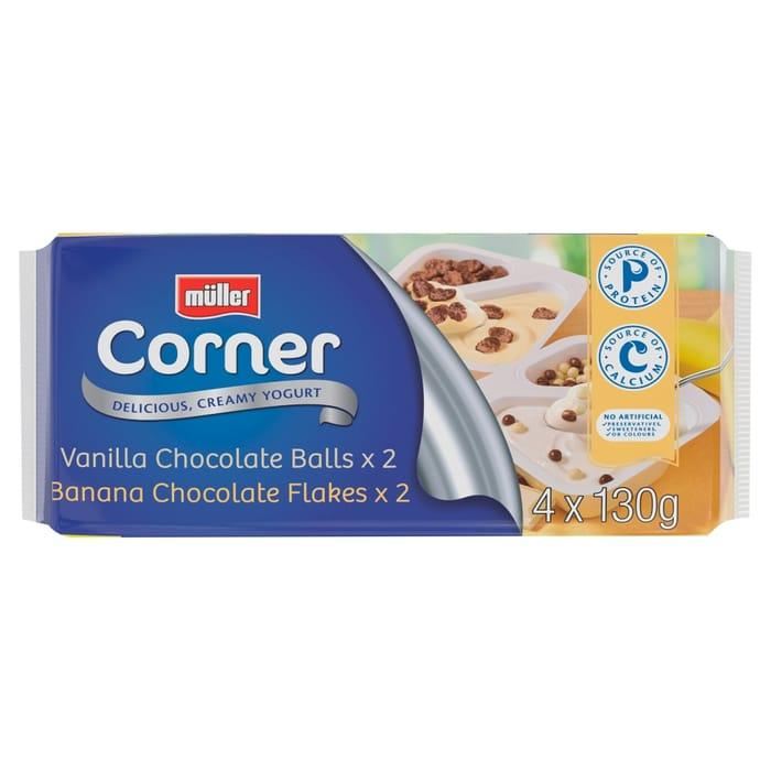 Muller Corner Crunch 4 Pack 4x130g