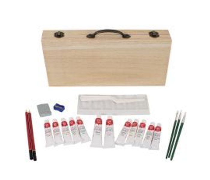 Acrylic Painting Set in Wooden Box