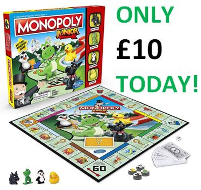 £10 TODAY! DEAL! Monopoly Junior Game