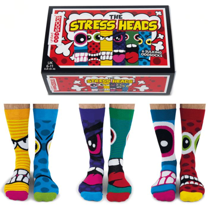 The Stress Heads Socks Gift Set for Men