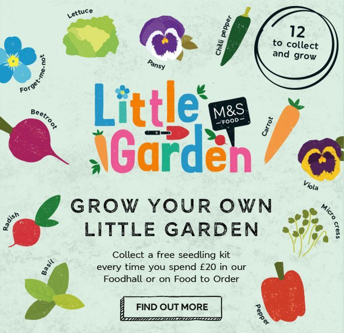 Free Little Garden Seed Kit With Every £20 M&S Food Spend