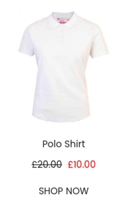 White Polo Shirt on Sale!