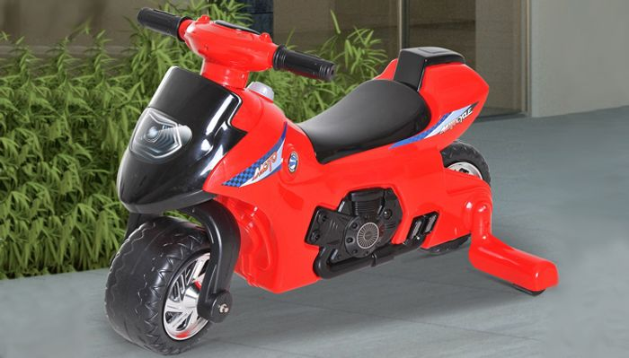 Kids Red Ride-on Motorcycle with Stabilisers