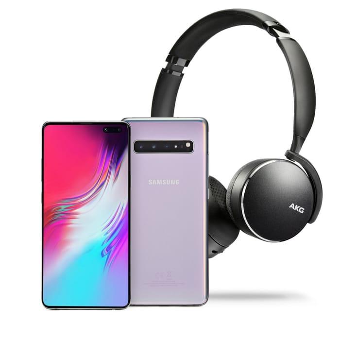 "Samsung Galaxy S10 5G 6.7"" Sim Free 256GB Smartphone & AKG Y500 Headphones"
