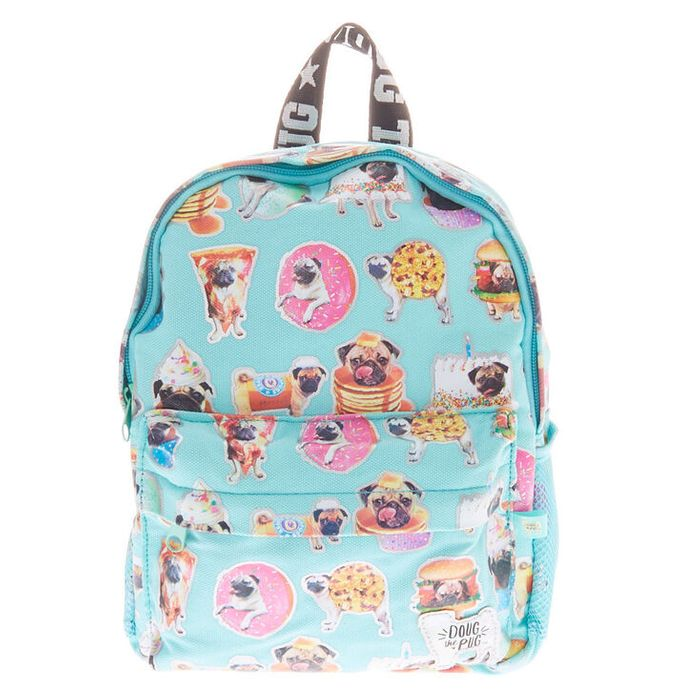 Doug the Pug Junk Food Mini Backpack - Blue