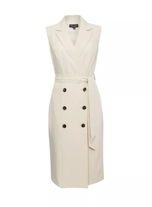 Beige Sleeveless Trench Dress Down From £28 to £19.6