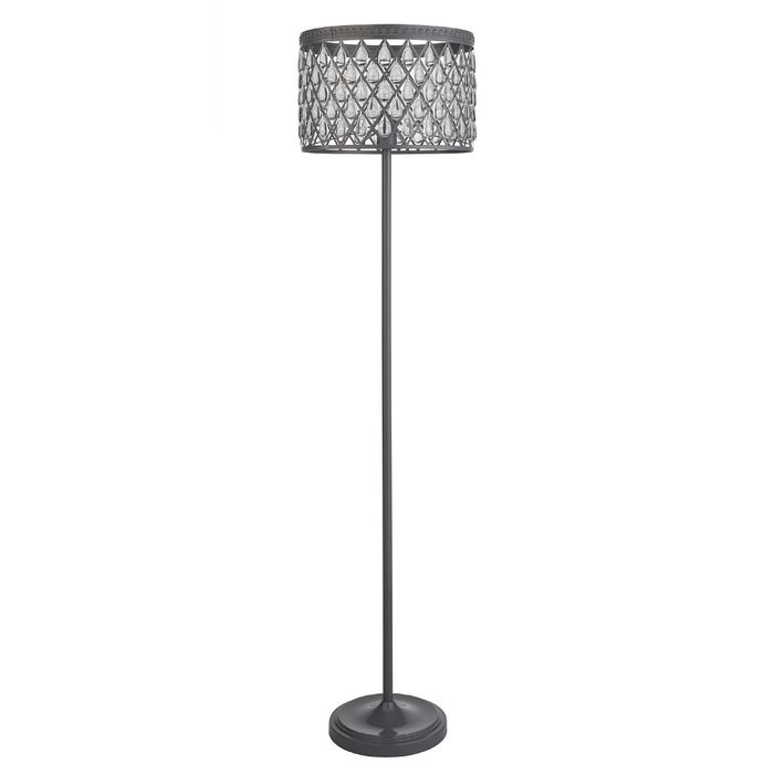 Brushed Grey Beaded Floor Lamp - Only £29.99!