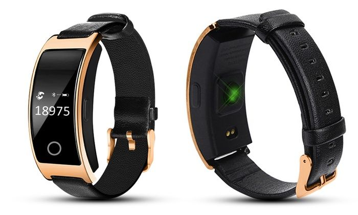 Aquarius Fitness Trackers Watch with Heart Rate and Blood Pressure Monitor Gold