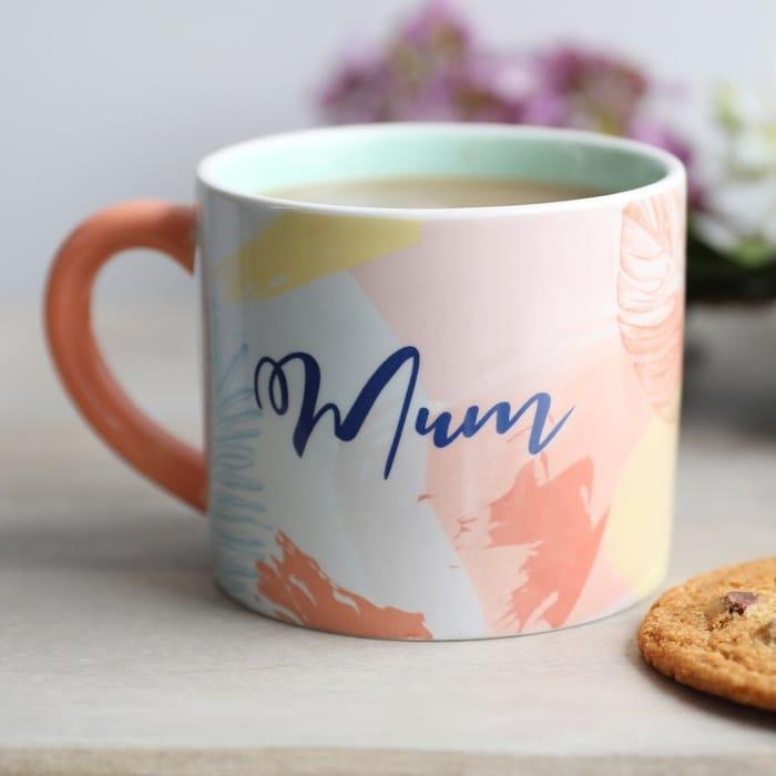 Pastel Botanical 'Mum' Mug - £3.60 Delivered