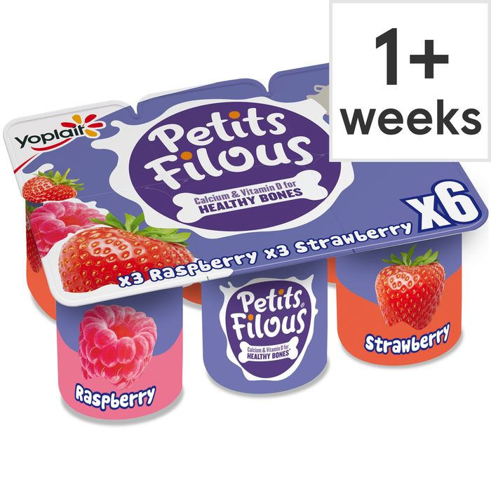 Petits Filous Strawberry & Raspberry Fromage Frais 6x47g 2 for £2