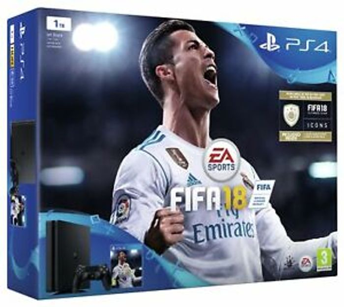 Sony PlayStation 4 1TB Slim PS4 with FIFA 18 Console Bundle - Black Only £246.99