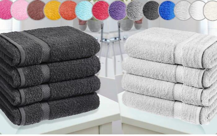 4 X Jumbo Egyptian Cotton Bath Towels + EXTRA 10% Off!