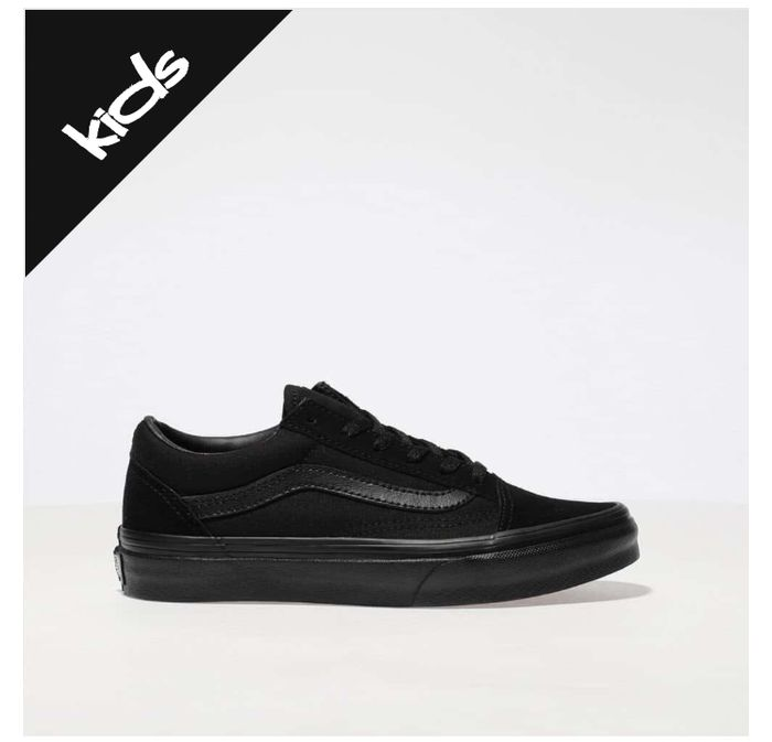 Vans Black Old Skool Trainers Junior