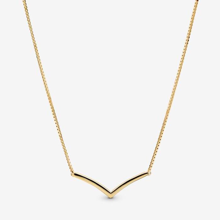 Cheap Polished Wishbone Necklace at Pandora