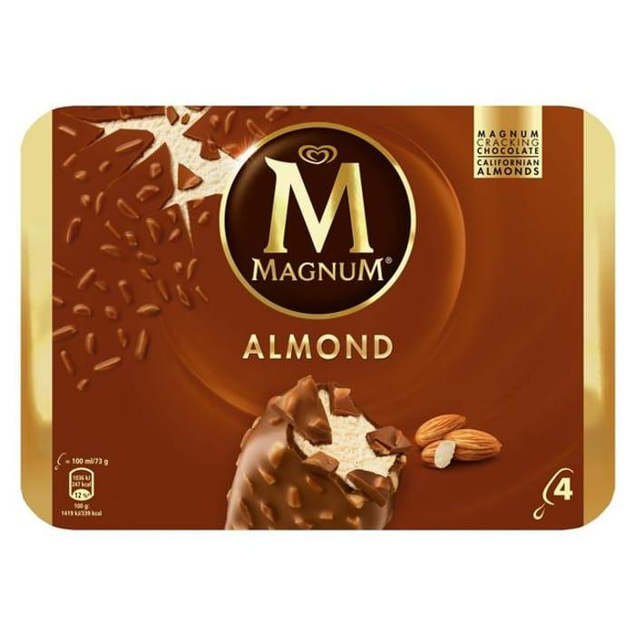 Magnum Ice Cream Almond 4x100ml at Sainsbury's Only £2
