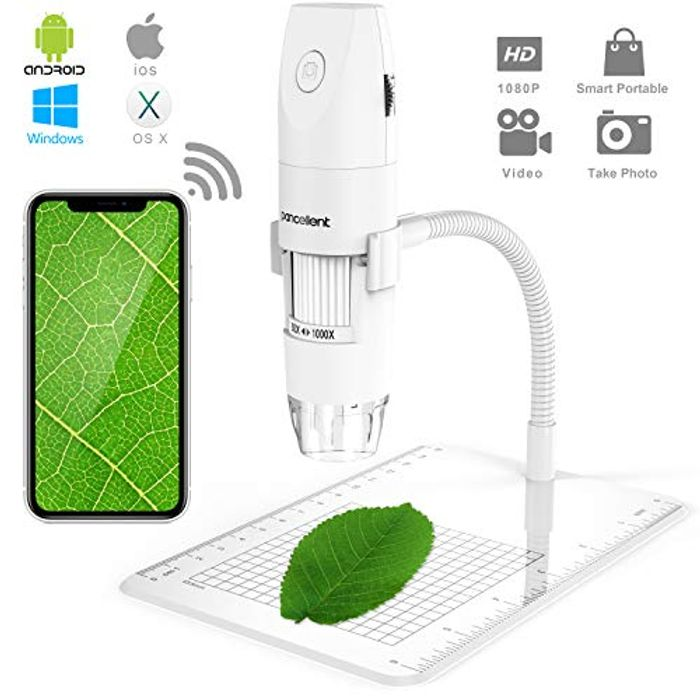 Pancellent Wifi Digital Microscope Down From £30.99 to £26.34