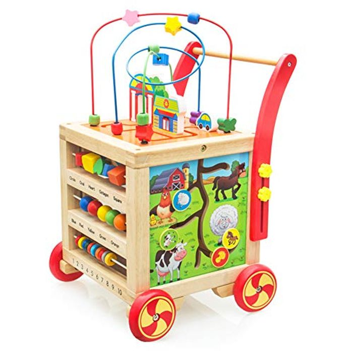 Nuheby Baby Walker Height Adjustable for 1 2 3 Year Old.