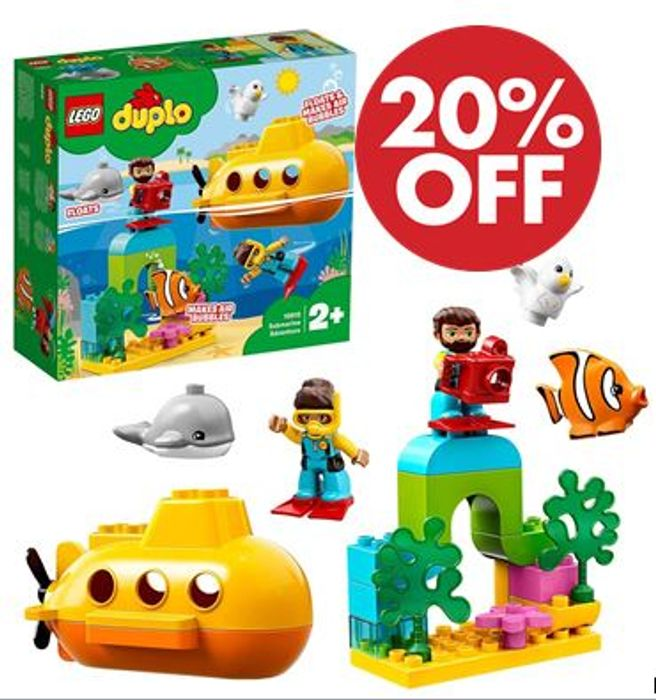 LEGO DUPLO Submarine Adventure Bath Toy (10910)