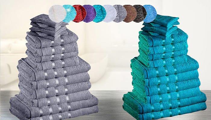 Luxury 8-Piece Egyptian Cotton Towel Set - 8 Colours