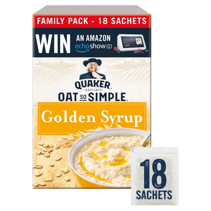Quaker Golden Syrup Porridge Sachet 18X36g