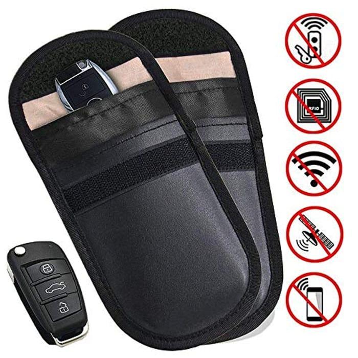 2 X Car Key Signal Blocker Pouch