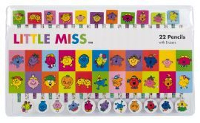 Little Miss Pencil and Eraser Set of 22