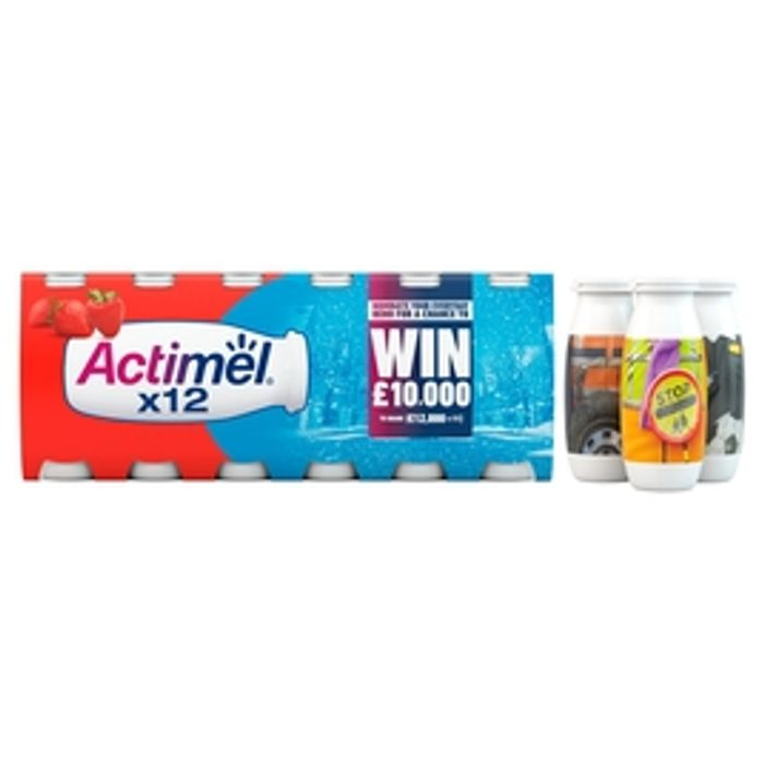 Actimel Strawberry Yogurt Drinks 12 X 100g
