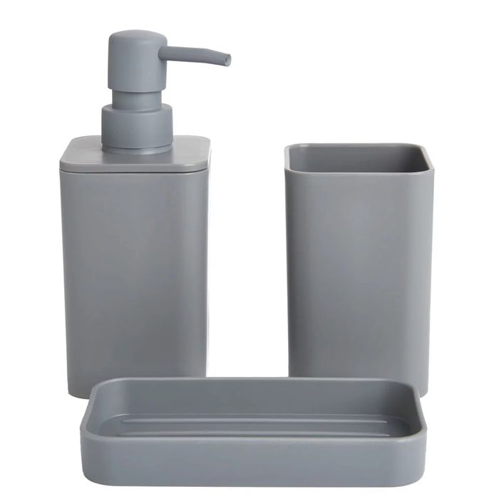 Wilko Grey Bathroom Set