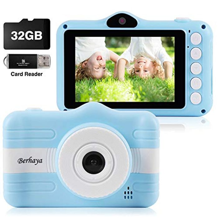 Kids Camera, Digital Children Cameras with 3.5 Inch Screen 32G Memory Card