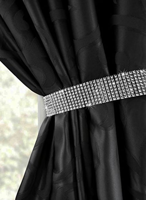 One Pair of Diamant Crystal Studded Tie Backs (Various Colours)- Prime Delivery