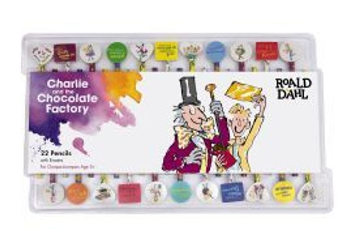 Charlie and the Chocolate Factory Pencils & Erasers: Set of 22