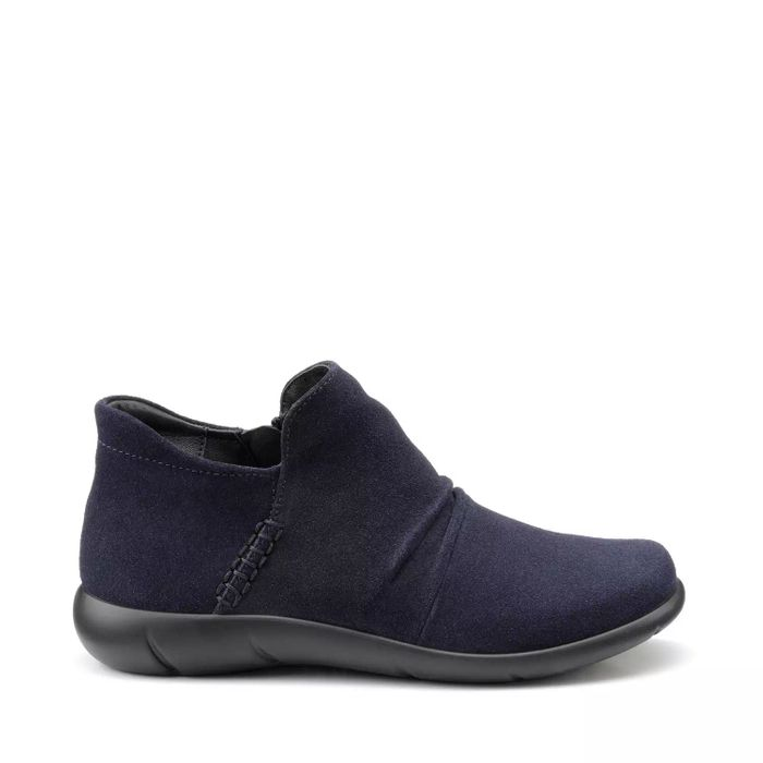 Hotter Womens Navy Suede Ankle Boots