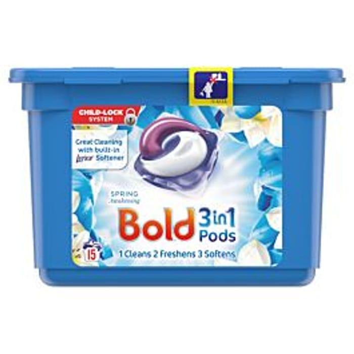 Bold 3 in 1 Washing Pods - Spring Awakening