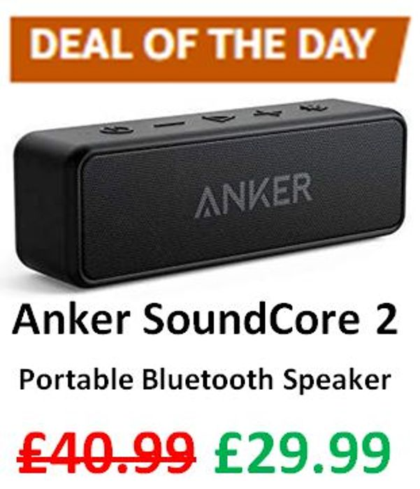 Amazon Deal of the Day - Upgraded Anker SoundCore 2 Portable Bluetooth Speaker