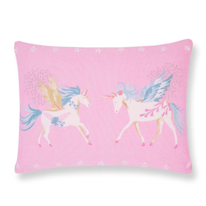 Laura Ashley Unicorns Pink Cushion Down to £6