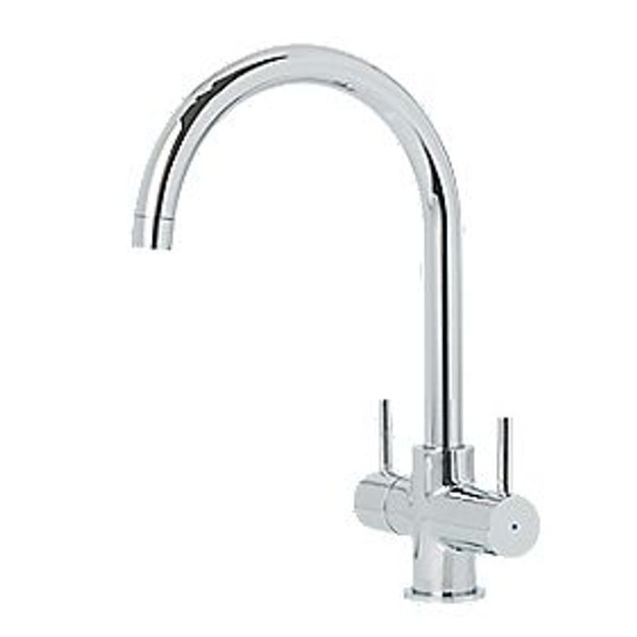 Cooke & Lewis Dual-Lever Mono Mixer Kitchen Tap Chrome