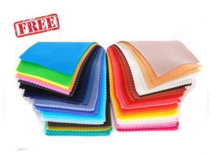 7 Free Fabric Material Swatch Samples.